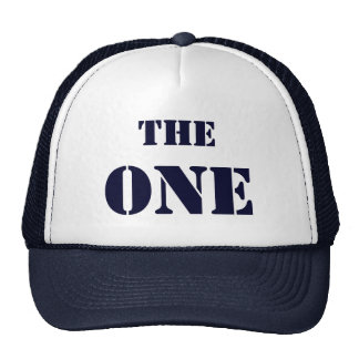 """THE ONE. The cap of the first """"one"""", in blue Trucker Hats"""