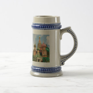 The Onion Domes of Russia Beer Stein