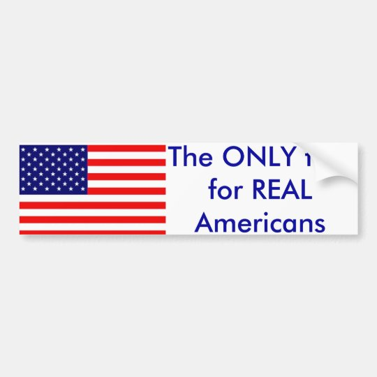 The only flag bumper sticker