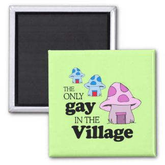 The only gay in the village square magnet