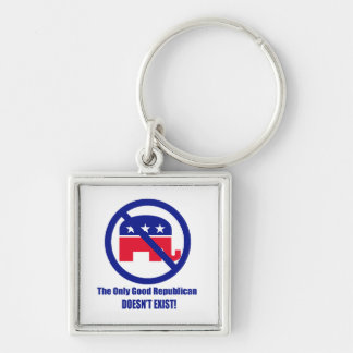 The Only Good Republican Silver-Colored Square Key Ring