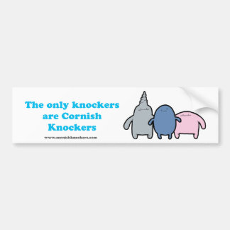 The Only Knockers Are Cornish Knockers Bumper Sticker