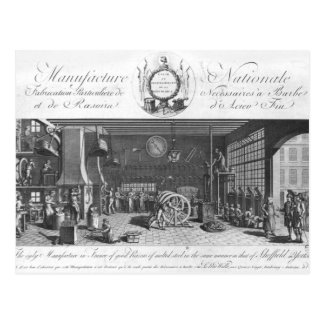 The only manufacture in France of good razors Postcard