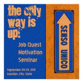 The Only Way is Up Job Quest Motivation Custom Invitation