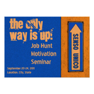 The Only Way is Up Motivation Job Hunt Custom Announcement