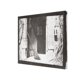 The Open Door, March, 1843 (b/w photo) Canvas Print