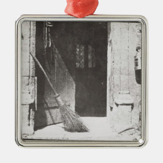 The Open Door, March, 1843 (b/w photo) Silver-Colored Square Decoration