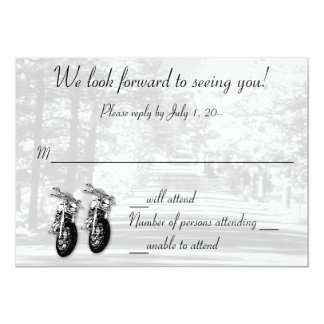 The Open Road Wedding Invitation RSVP Reply Card