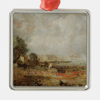 The Opening of Waterloo Bridge, c.1829-31 (oil on Silver-Colored Square Decoration