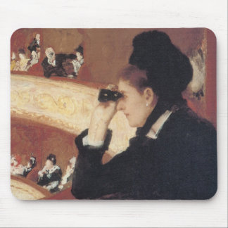 The Opera by Mary Cassatt, Vintage Impressionism Mouse Pad