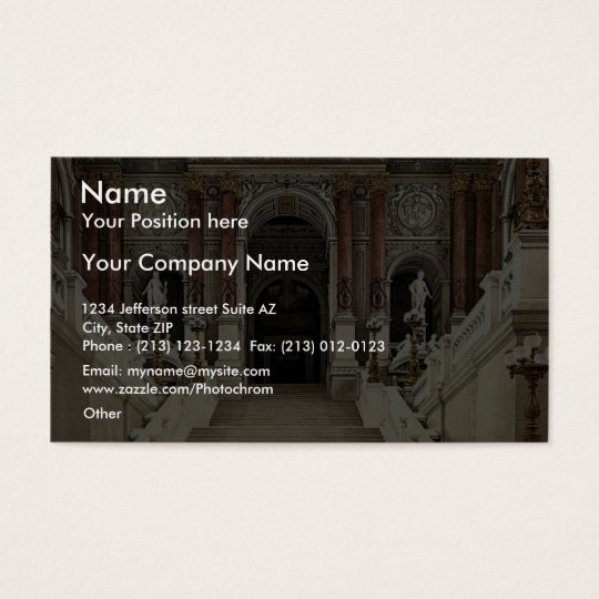 The Opera House, interior, Vienna, Austro-Hungary Business Card