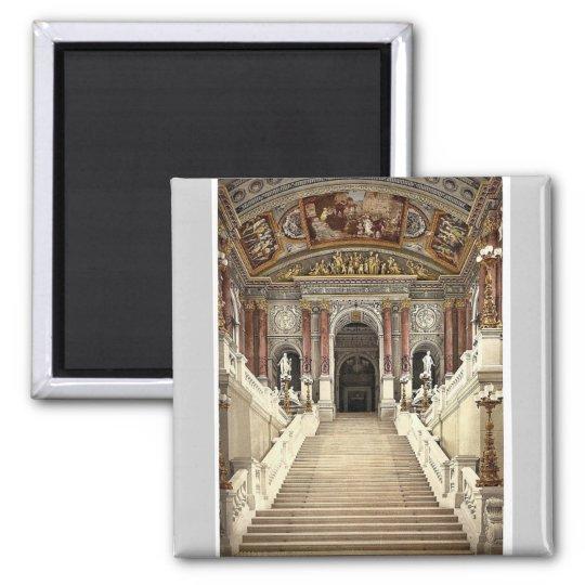 The Opera House, interior, Vienna, Austro-Hungary Square Magnet