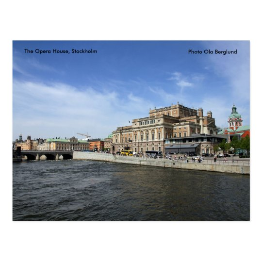 The Opera House, Stockholm, Phot... Postcard