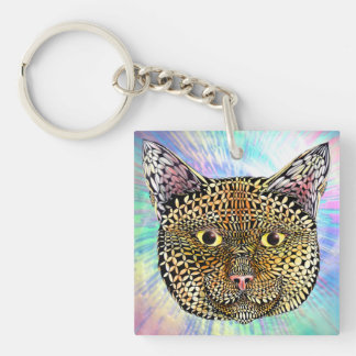 The Opportunist Double-Sided Square Acrylic Key Ring