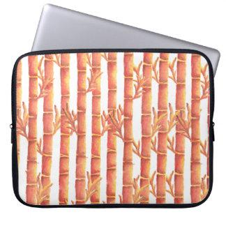 The Orange Bamboo Garden Laptop Sleeve