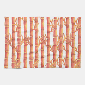 The Orange Bamboo Garden Tea Towel