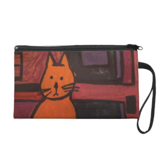 The Orange Cat Painting Wristlets