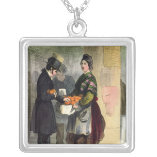 The Orange Seller, from 'Les Femmes de Paris' Silver Plated Necklace