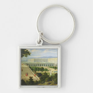 The Orangerie at the Chateau de Versailles Silver-Colored Square Key Ring