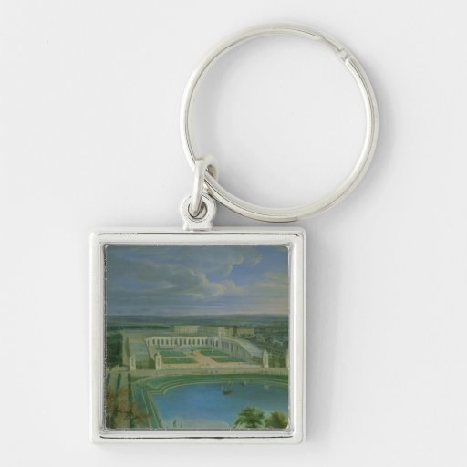 The Orangery and the Chateau at Versailles, 1696 Keychain