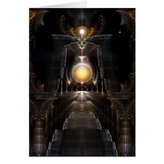 The Orb Of Acrellis Fractal Art Greeting Card