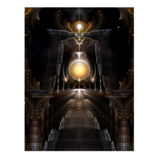 The Orb Of Acrellis Fractal Art Postcard