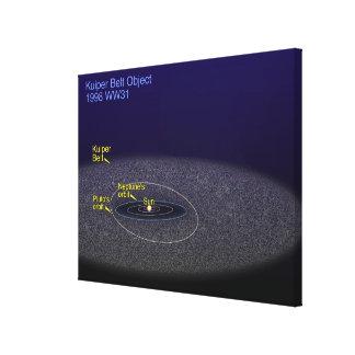 The orbit of the binary Kuiper Belt object Canvas Print