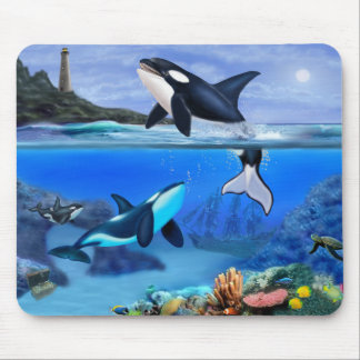 The Orca Family Mouse Mat