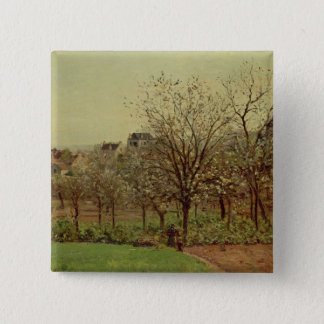 The Orchard, 1870 (oil on canvas) 15 Cm Square Badge
