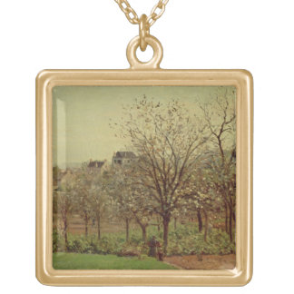 The Orchard 1870 oil on canvas Personalized Necklace