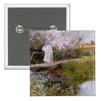 The Orchard Brook 15 Cm Square Badge