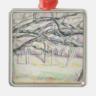 The Orchard, c.1895 (w/c on paper) Silver-Colored Square Decoration