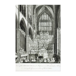 The Orchestra and Performers in Westminster Canvas Print