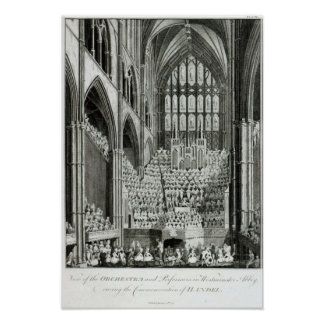 The Orchestra and Performers in Westminster Poster