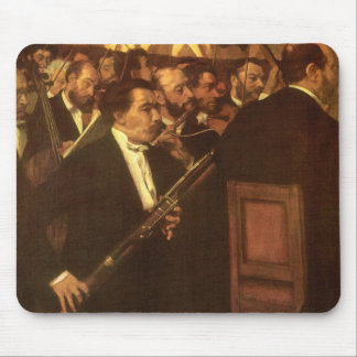 The Orchestra of Opera by Edgar Degas, Vintage Art Mouse Pad