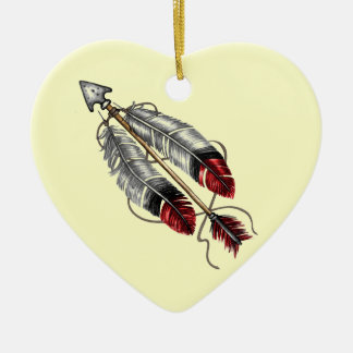 The Order of the Arrow Ceramic Heart Decoration
