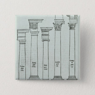 The Orders of Architecture 15 Cm Square Badge