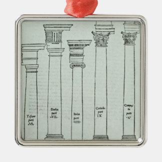 The Orders of Architecture Christmas Ornament