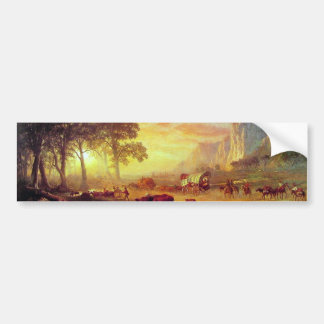 The Oregon Trail - Albert Bierstadt Bumper Sticker