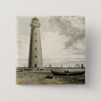 The Orford Nefs Lighthouses, Suffolk, from Volume 15 Cm Square Badge