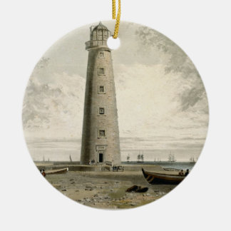 The Orford Nefs Lighthouses, Suffolk, from Volume Round Ceramic Decoration