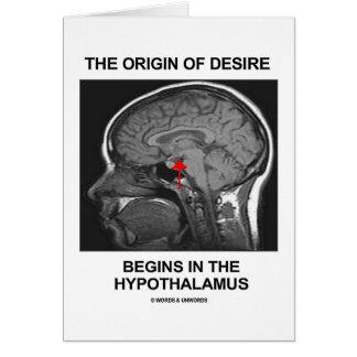 The Origin Of Desire Begins In the Hypothalamus Cards