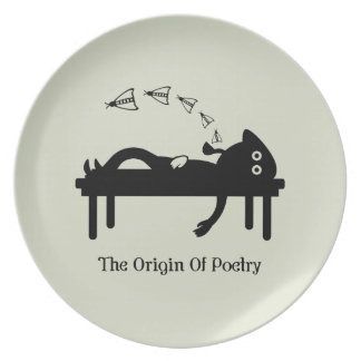 The Origin Of Poetry Plate
