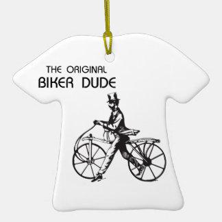 The original biker chick & dude vintage bike, wow! ceramic T-Shirt decoration