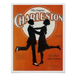 The Original Charleston Vintage Song Sheet Cover Poster