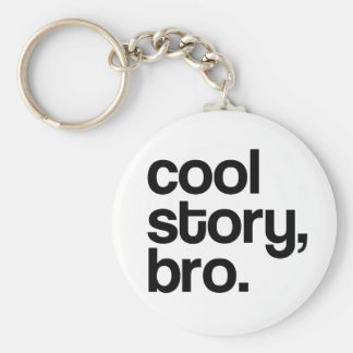 THE ORIGINAL COOL STORY BRO BASIC ROUND BUTTON KEY RING