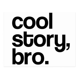 THE ORIGINAL COOL STORY BRO POSTCARD