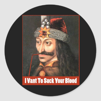 The Original Dracula, Halloween!!! Round Sticker