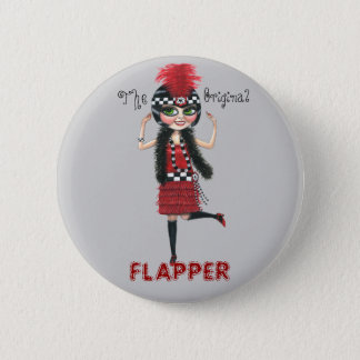 The Original Flapper Roaring '20s Button
