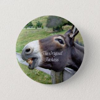 The Original Jackass Funny Donkey Mule Farm Animal 6 Cm Round Badge